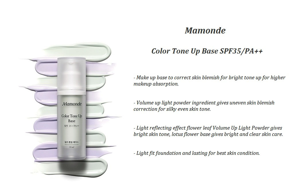kem lót Mamonde Color Tone Up Base SPF 35/PA ++