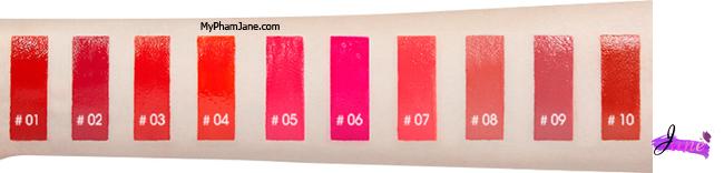bảng màu son Mamonde Highlight Lip Tint Velevet trực quang