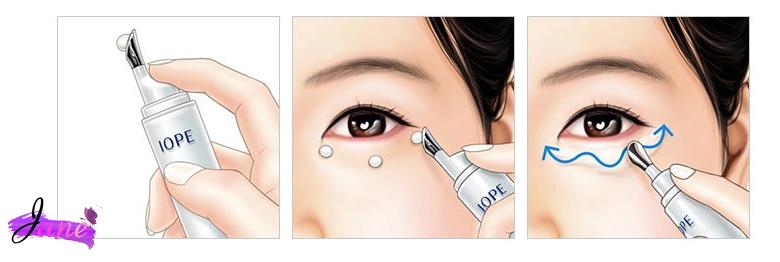 cách sử dụng kem dưỡng mắt IOPE Whitegen Eye Cream