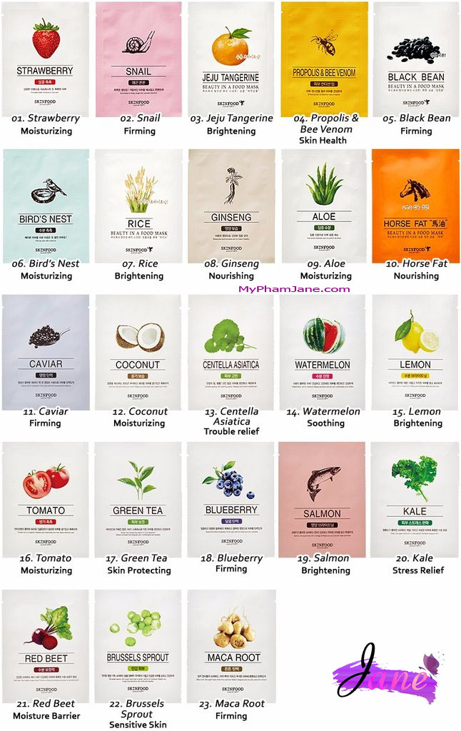 Mặt nạ Skin Food Beauty In A Food Mask Sheet