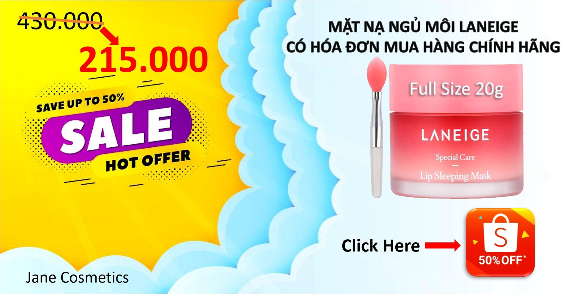 shopee mặt nạ ngủ Laneige