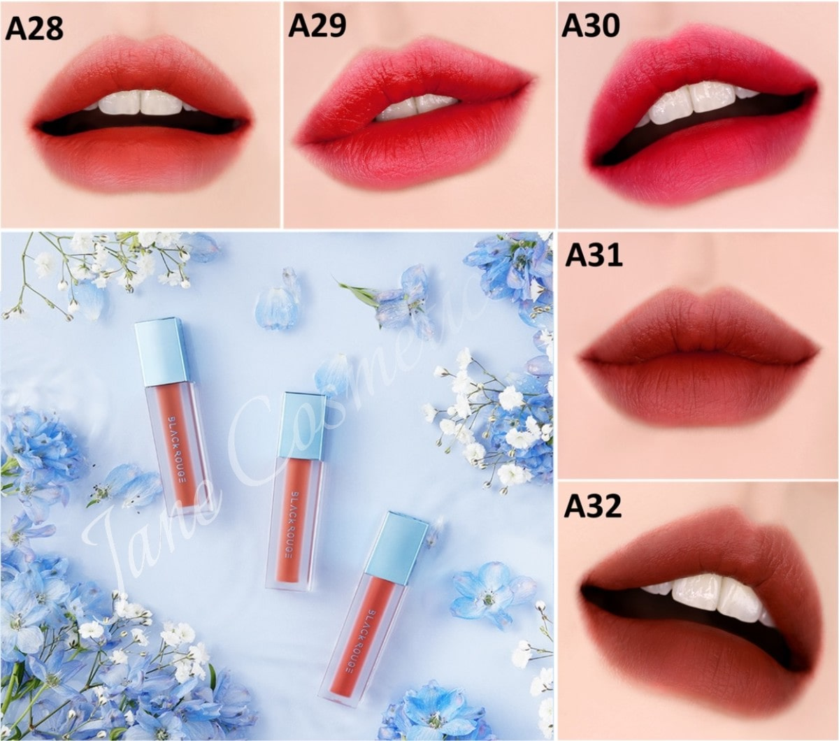 Black Rouge Air Fit Velvet Tint Ver 6 Blueming Garden